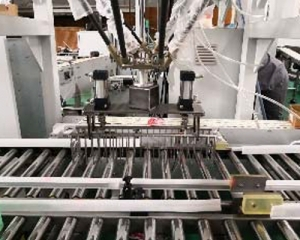 LCP automatic unpacking and packing production line