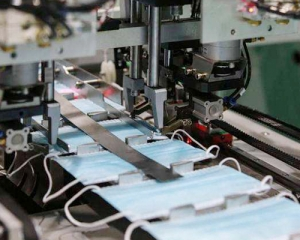 Mask machine production line